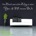 YOU AND ME WALL STICKER QUOTE - BEDROOM LOUNGE HOME LOVE WALL ART DECAL X316