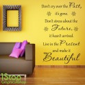 PAST FUTURE PRESENT WALL STICKER QUOTE - LOUNGE BEDROOM LOVE WALL ART DECAL X318