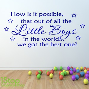 BEST LITTLE BOY WALL STICKER