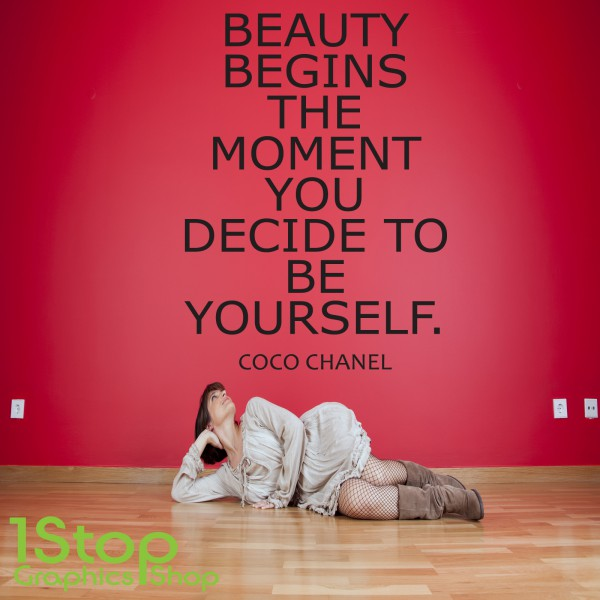 coco chanel wall sticker quote bedroom lounge love wall
