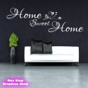 HOME SWEET HOME WALL STICKER - BEDROOM LOUNGE BATHROOM WALL ART QUOTE X41