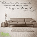NELSON MENDELA CHANGE THE WORLD WALL STICKER QUOTE - LOVE WALL ART DECAL X330