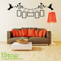 FAMILY PICTURE FRAME WALL STICKER