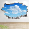 SKY CLOUD FULL COLOUR WALL STICKER - BOYS GIRLS GRAPHIC