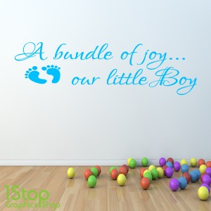 A BUNDLE OF JOY WALL STICKER