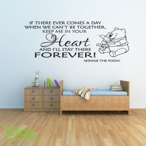 Winnie The Pooh Wall Art winnie the pooh wall sticker babys childrens bedroom boys wall art