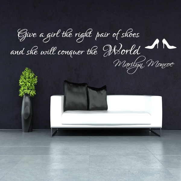 Us Stock Live Quote: MARILYN MONROE WALL STICKER RIGHT PAIR OF SHOES BEDROOM