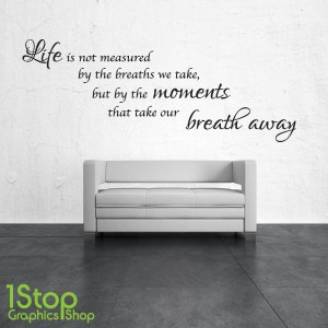 LIFE IS NOT MEASURED WALL STICKER Part 43