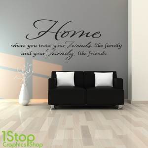 HOME FRIENDS FAMILY WALL STICKER