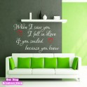 LOVE SMILE ROMANCE WALL STICKER
