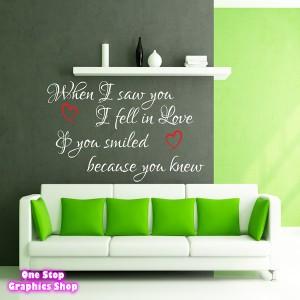 LOVE SMILE ROMANCE WALL STICKER