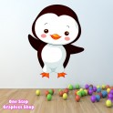 PENGUIN FULL COLOUR WALL ART STICKER
