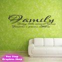 FAMILY TODAY TOMORROW WALL STICKER