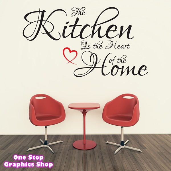 the kitchen is the heart of the home wall art quote kitchen is the heart of the home art wall stickers