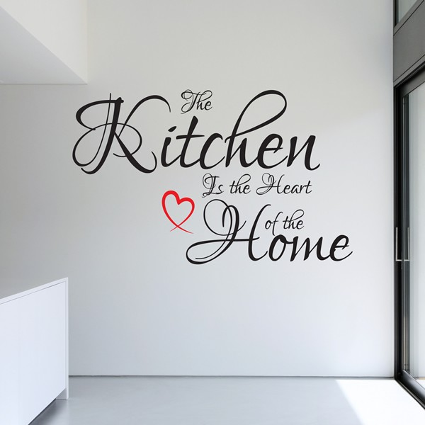 The Kitchen Is The Heart Of The Home Wall Art Quote Sticker Love Decal X10 1stopgraphicsshop