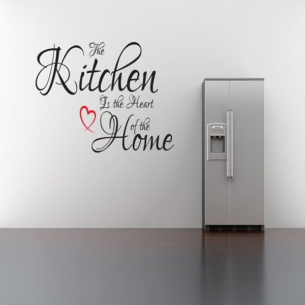 The Kitchen Is The Heart Of The Home Wall Art Quote