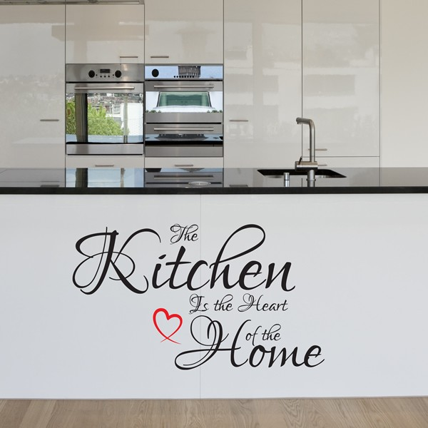 the kitchen is the heart of the home wall art quote sticker love decal x10 1stopgraphicsshop. Black Bedroom Furniture Sets. Home Design Ideas