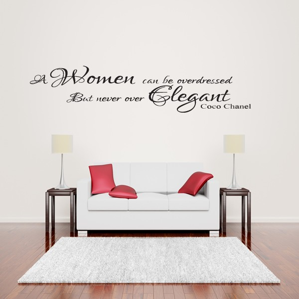coco chanel women elegant wall art quote sticker - lounge bedroom