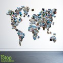 WORLD PHOTO MAP WALL STICKER