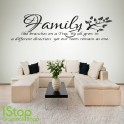 FAMILY WALL STICKER - HOME KITCHEN FAMILY LIKE BRANCHES WALL ART QUOTE X55