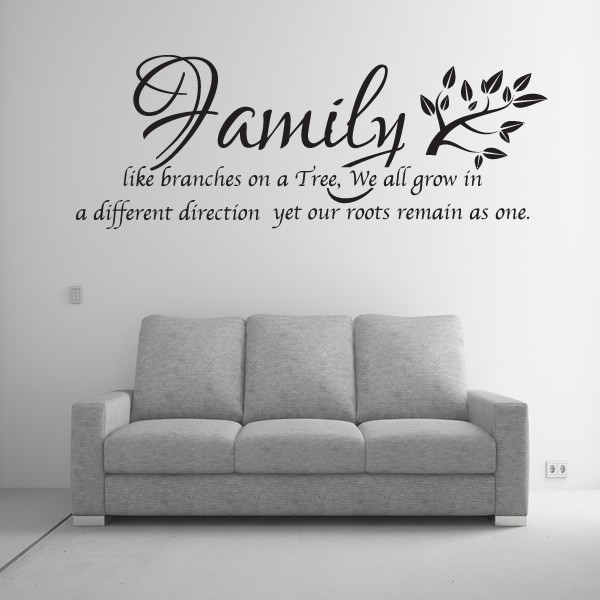 Family wall sticker home kitchen family like branches for The best of family decals for walls