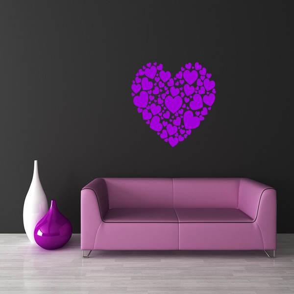 heart of hearts wall art sticker bedroom lounge love heart wall stickers tresxics heylittlebaby