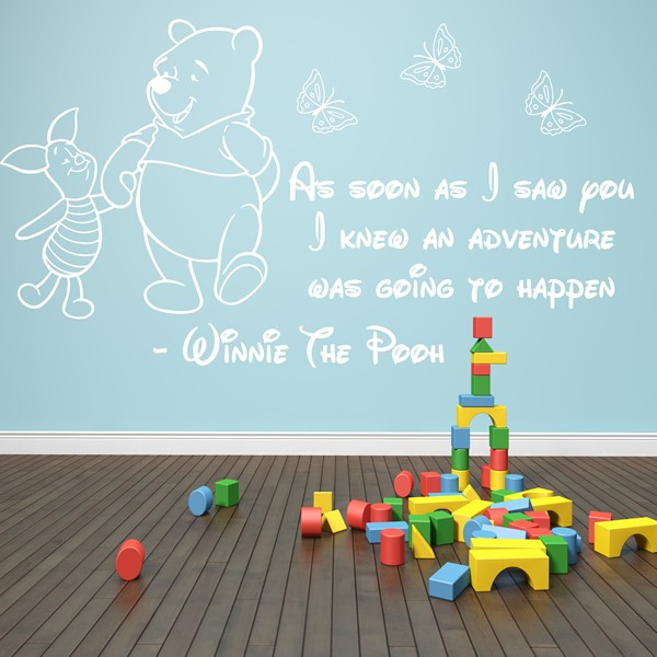 winnie the pooh wall sticker 3 girls boys baby bedroom disney winnie the pooh sometimes the smallest things