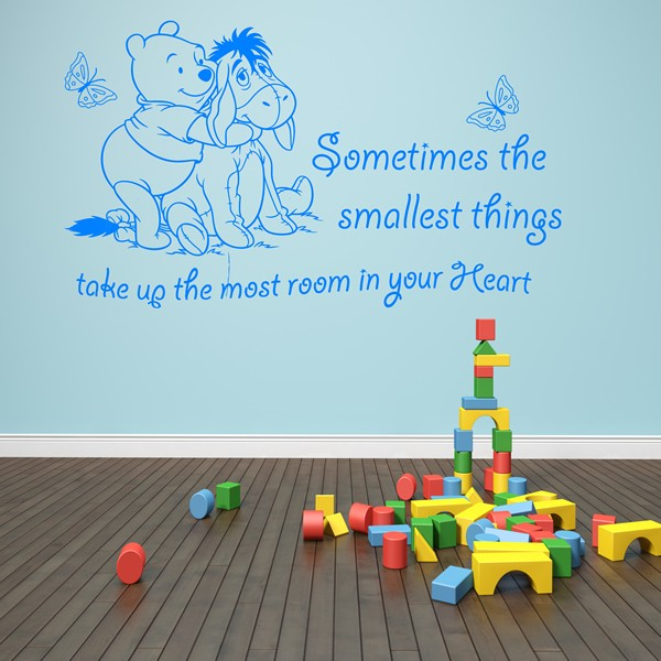winnie the pooh wall art quote sticker girl boy kids nursery love decal 1stopgraphicsshop. Black Bedroom Furniture Sets. Home Design Ideas