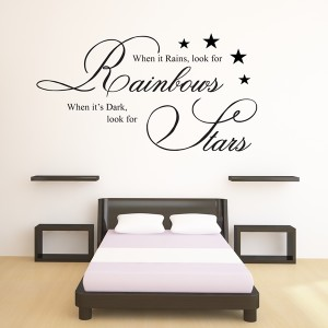 High Quality WHEN IT RAINS WALL STICKER