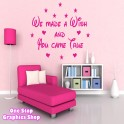 WE MADE A WISH WALL ART QUOTE STICKER - DISNEY BEDROOM KIDS BABY LOVE DECAL