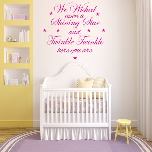 WE WISHED UPON A STAR WALL STICKER