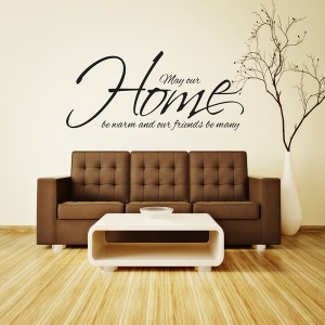 MAY OUR HOME BE WARM WALL STICKER