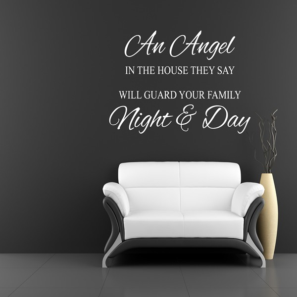 An angel in the house they say wall art quote sticker bedroom an angel in the house they say thecheapjerseys Choice Image