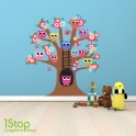 OWL TREE FULL COLOUR WALL STICKER