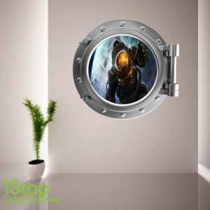 ASTRONAUT PORTHOLE WALL STICKER