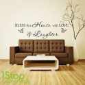 BLESS THIS HOUSE WALL STICKER QUOTE  -  HOME LOUNGE WALL ART DECAL X79