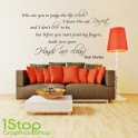 BOB MARLEY WALL STICKER QUOTE  -  HOME LOUNGE LYRICS WALL ART DECAL X81