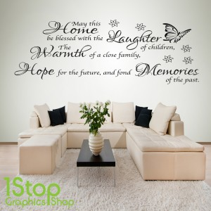 MAY THIS HOME BE BLESSED WALL STICKER