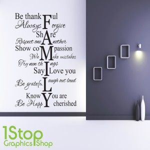 FAMILY LOVE LIFE  WALL STICKER
