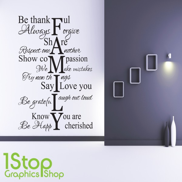 family love life wall sticker quote bedroom lounge wall family roots home wall art sticker vinyl decal