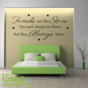 FRIENDS ARE LIKE STARS WALL STICKER