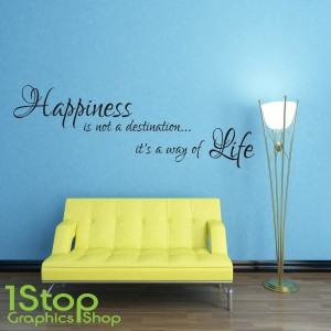 HAPPINESS LIFE WALL STICKER