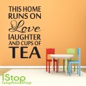 LOVE LAUGHTER WALL STICKER QUOTE -  BEDROOM LOUNGE KITCHEN WALL ART DECAL X96