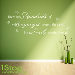 HUNDREDS OF LANGUAGES WALL STICKER