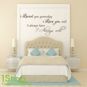 I LOVED YOU YESTERDAY WALL STICKER