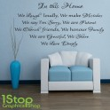 HOUSE RULES WALL STICKER QUOTE - FAMILY LOVE BEDROOM LOUNGE WALL ART DECAL X101
