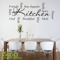 KITCHEN WORDS WALL STICKER QUOTE - LOVE KITCHEN HOME WALL ART DECAL X105