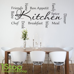 KITCHEN WORDS WALL STICKER