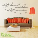 LIFE LOVE WALL STICKER QUOTE - LOVE  HOME LOUNGE WALL ART DECAL X108