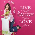 LIVE LAUGH LOVE WALL STICKER QUOTE - LOVE  HOME LOUNGE WALL ART DECAL X110